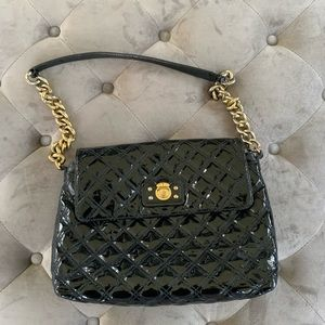 MARC JACOBS Black Patent Quilted Single Bag
